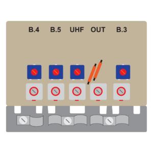 amplificatore da palo da 20 db per le bande 345u