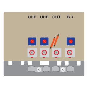 amplificatore da palo da 20 db per le bande 3uu