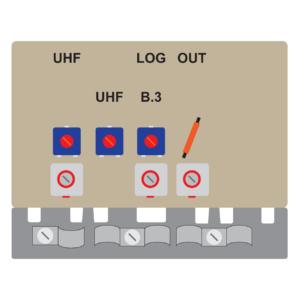 amplificatore per antenna log + antenna uhf da 10db