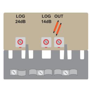 amplificatore antenna con 2 ingressi per antenna logaritmica