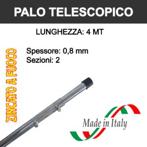 palo per antenna tv telescopico da 4 metri