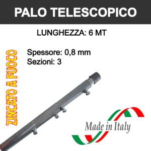 palo per antenna tv telescopico da 6 metri