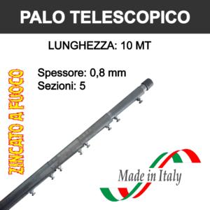 palo per antenna tv telescopico da 10 metri