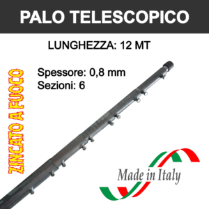 palo per antenna tv telescopico da 12 metri