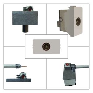 ticino matix - presa antenna tv maschio terminale - prodotto compatibile