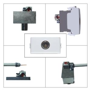 ticino matix - presa antenna tv femmina terminale - prodotto compatibile