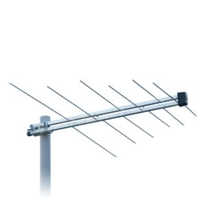 antenna logaritmica a 6 elementi di banda iii per ricezione segnali in vhf