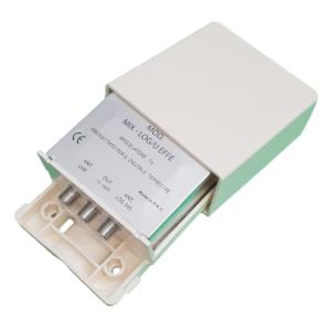 miscelatore di segnale da palo log e uhf con connettore effe