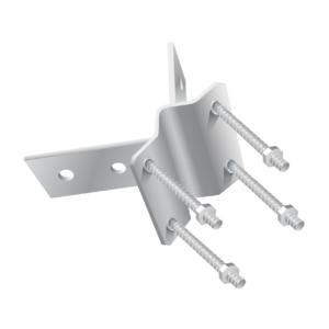 accessorio ac35131 - kit fissaggio angolare per pali fino a 55 mm