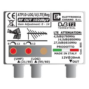 amplificatore antenna logaritmica per digitale terrestre da 10 db
