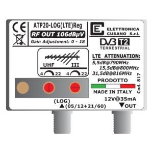 amplificatore per antenna logaritmica da 20 db con filtro lte