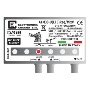 amplificatore antenna con 1 uhf e un ingresso vhf miscelato da 30db