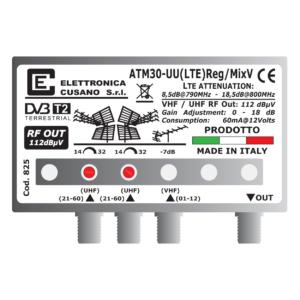 amplificatore antenna con 2 uhf e un ingresso vhf miscelato da 30db