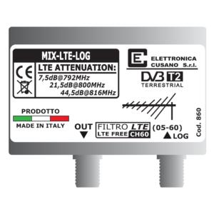 filtro lte per inferferenze 4g per antenna logaritmica in versione da palo