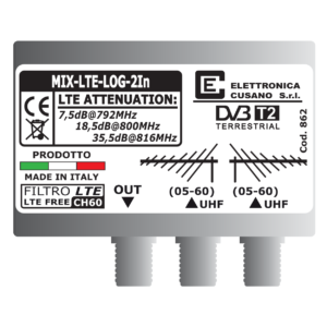 miscelatore di segnale tv per 2 antenne logaritmiche