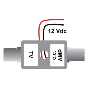 inseritore direzionale 12 volt per impianti di antenna tv in camper